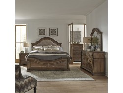 Haven Hall Queen Panel Bed, Dresser & Mirror, Chest, Night Stand