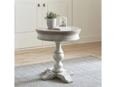 Heartland Round Pedestal Chair Side Table