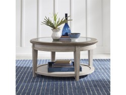 Heartland Round Ceiling Tile Cocktail Table