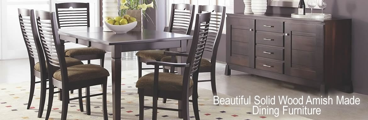 Shop Francis Furniture for beautiful solid wood Amish made dining furniture.